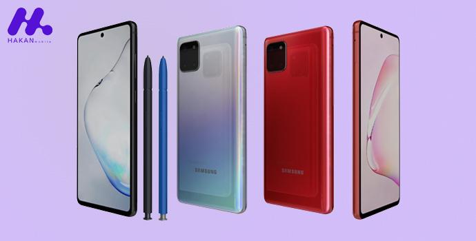 طراحی گوشی Galaxy note 10 Lite