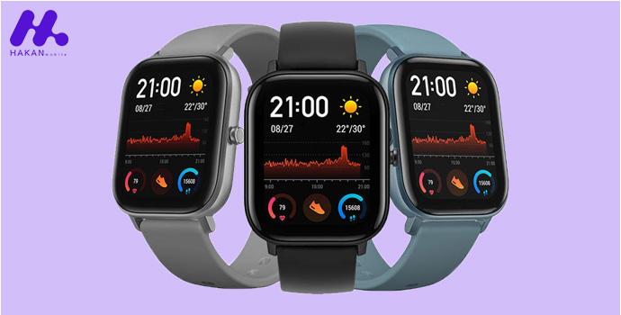 صفحه نمایش ساعت هوشمند شیائومی آمازفیت جی تی اس