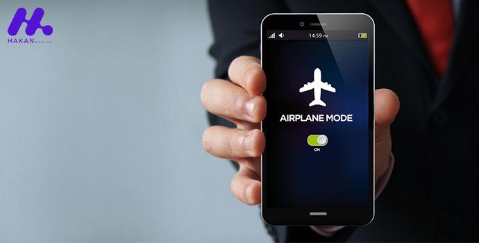 افزایش عمر باتری گوشی با فعالسازی حالت پرواز (Airplane Mode)