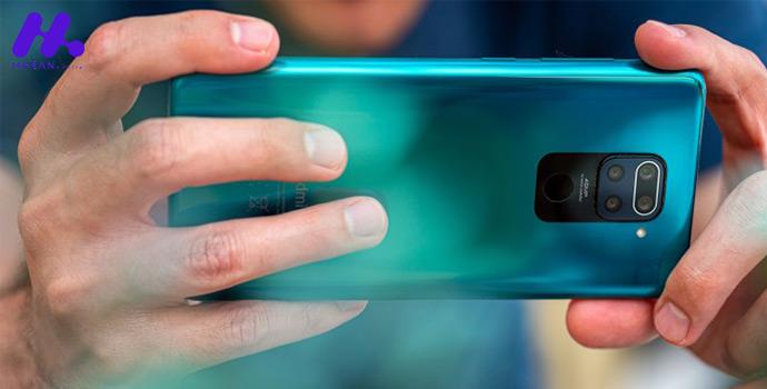 چهار دوربین در پشت بدنه و پانچ دوربین سلفی در جلو گوشی Xiaomi Redmi note 9