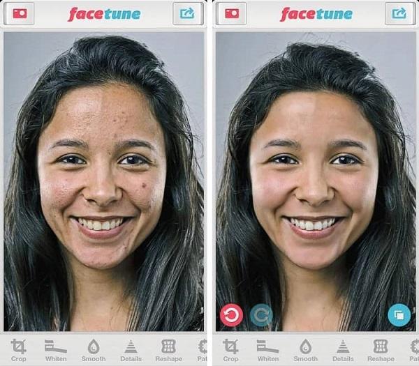 بهترین برنامه موبایل ویرایش تصویر Face Tune
