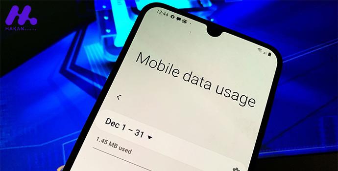 رفع مشکل وصل نشدن به اینترنت گوشی: محدودیت استفاده از داده را چک کنید