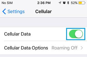 رفع مشکل عدم اتصال گوشی آیفون به اینترنت: بررسی فعال بودن داده اینترنت در گوشی آیفون