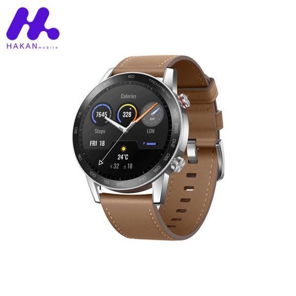 ساعت هوشمند آنر مدل Honor Magic 2 46mm قهوره ای