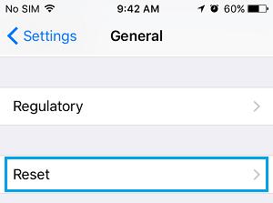 رفع مشکل عدم اتصال گوشی آیفون به اینترنت: ریست کردن تنظیمات شبکه گوشی آیفون
