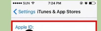 گام سوم تغییر اپل آیدی در گوشی آیفون