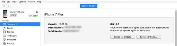 روش دوم ریست کردن گوشی آیفون: از طریق برنامه iTunes گوشی آیفون