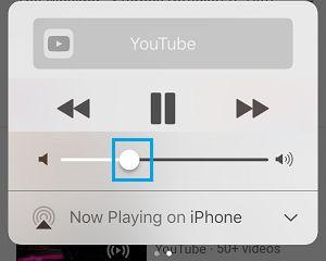 تنظیم میزان صدا با Control Panel برای حل مشکل ماندن گوشی آیفون در حالت هدفون