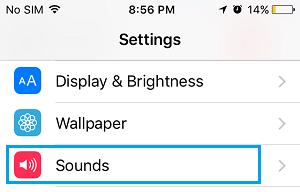 به تنظیمات گوشی آیفون رفته و صدا را تنظیم کنید