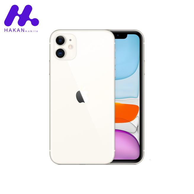 گوشی موبایل اپل آیفون 11 (New pack) سفید