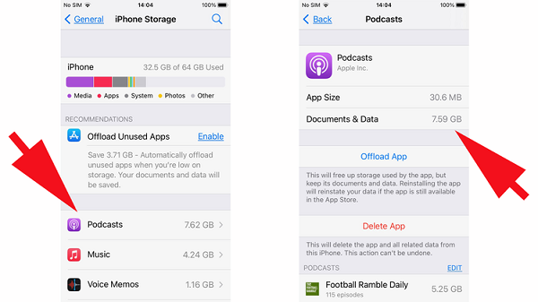 پاک کردن حافظه پنهان برنامه ها (App Caches)