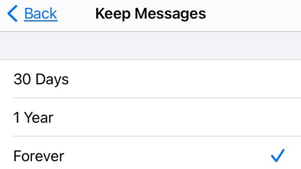 مدت زمان ذخیره شدن پیام ها را محدود کنید