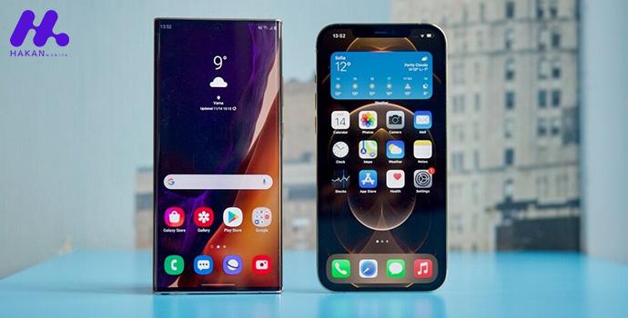 ویژگی های نمایشگر iPhone 12 و Galaxy Note 20
