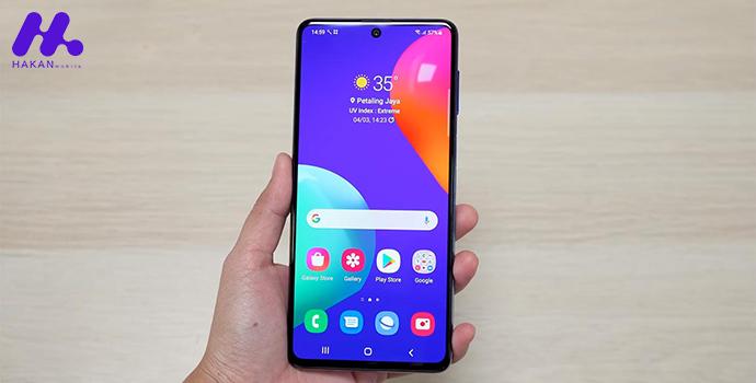 صفحه نمایش گوشی گلکسی ام 62 ظرفیت 256 گیگابایت