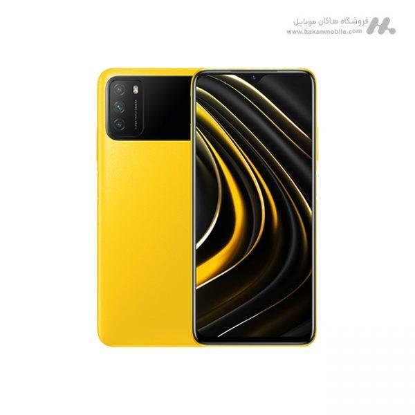 گوشی شیائومی مدل پوکو ام 3 ظرفیت 128 گیگابایت زرد