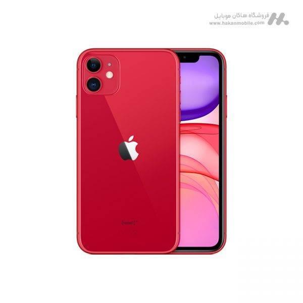 گوشی اپل آیفون 11 دوسیم کارت ظرفیت 128 گیگابایت قرمز