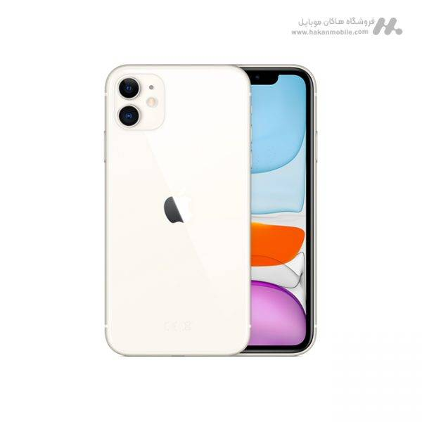 گوشی اپل آیفون 11 دوسیم کارت ظرفیت 128 گیگابایت سفید